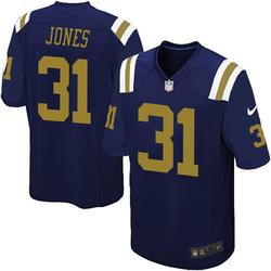 Game Men's Derrick Jones New York Jets Nike Alternate Jersey - Navy Blue