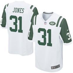 Game Men's Derrick Jones New York Jets Nike Jersey - White