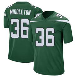 Game Men's Doug Middleton New York Jets Nike Jersey - Gotham Green