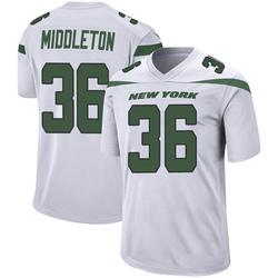 Game Men's Doug Middleton New York Jets Nike Jersey - Spotlight White