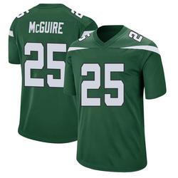 Game Men's Elijah McGuire New York Jets Nike Jersey - Gotham Green