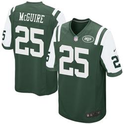 Game Men's Elijah McGuire New York Jets Nike Team Color Jersey - Green