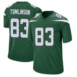 Game Men's Eric Tomlinson New York Jets Nike Jersey - Gotham Green