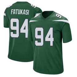 Game Men's Folorunso Fatukasi New York Jets Nike Jersey - Gotham Green