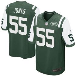 Game Men's Fredrick Jones New York Jets Nike Team Color Jersey - Green