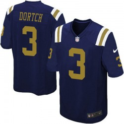 Game Men's Greg Dortch New York Jets Nike Alternate Jersey - Navy Blue