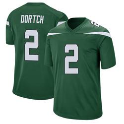 Game Men's Greg Dortch New York Jets Nike Jersey - Gotham Green