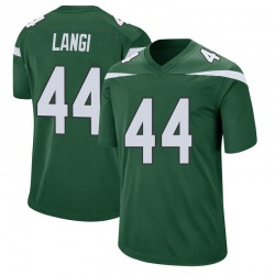 Game Men's Harvey Langi New York Jets Nike Jersey - Gotham Green