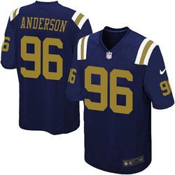 Game Men's Henry Anderson New York Jets Nike Alternate Jersey - Navy Blue