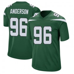 Game Men's Henry Anderson New York Jets Nike Jersey - Gotham Green