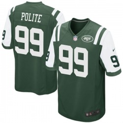 Game Men's Jachai Polite New York Jets Nike Team Color Jersey - Green