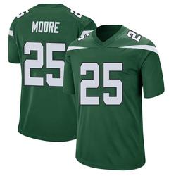 Game Men's Jalin Moore New York Jets Nike Jersey - Gotham Green