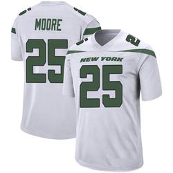 Game Men's Jalin Moore New York Jets Nike Jersey - Spotlight White