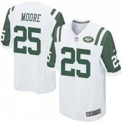 Game Men's Jalin Moore New York Jets Nike Jersey - White