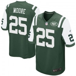 Game Men's Jalin Moore New York Jets Nike Team Color Jersey - Green