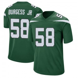 Game Men's James Burgess New York Jets Nike Jersey - Gotham Green