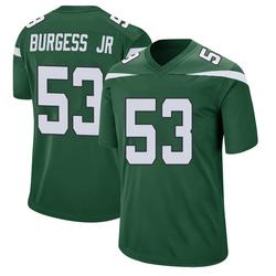 Game Men's James Burgess New York Jets Nike Jersey - Gotham Green