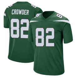 Game Men's Jamison Crowder New York Jets Nike Jersey - Gotham Green