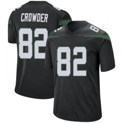 Game Men's Jamison Crowder New York Jets Nike Jersey - Stealth Black
