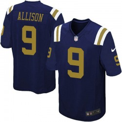 Game Men's Jeff Allison New York Jets Nike Alternate Jersey - Navy Blue