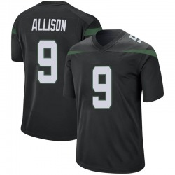 Game Men's Jeff Allison New York Jets Nike Jersey - Stealth Black