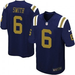 Game Men's Jeff Smith New York Jets Nike Alternate Jersey - Navy Blue