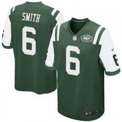 Game Men's Jeff Smith New York Jets Nike Team Color Jersey - Green