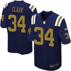 Game Men's Jeremy Clark New York Jets Nike Alternate Jersey - Navy Blue