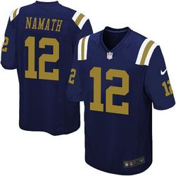Game Men's Joe Namath New York Jets Nike Alternate Jersey - Navy Blue