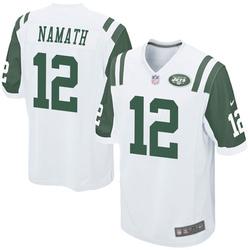 Game Men's Joe Namath New York Jets Nike Jersey - White