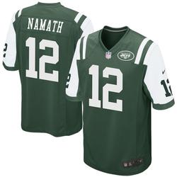 Game Men's Joe Namath New York Jets Nike Team Color Jersey - Green