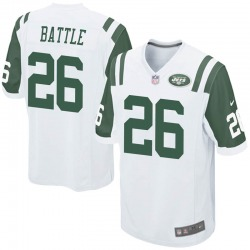 Game Men's John Battle New York Jets Nike Jersey - White