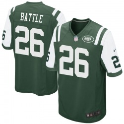 Game Men's John Battle New York Jets Nike Team Color Jersey - Green