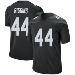 Game Men's John Riggins New York Jets Nike Jersey - Stealth Black