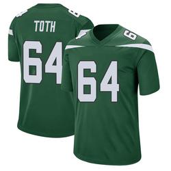 Game Men's Jon Toth New York Jets Nike Jersey - Gotham Green