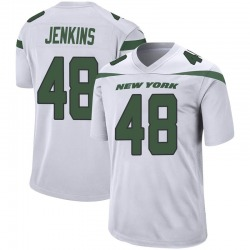 Game Men's Jordan Jenkins New York Jets Nike Jersey - Spotlight White