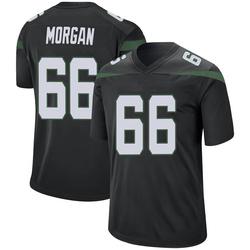 Game Men's Jordan Morgan New York Jets Nike Jersey - Stealth Black