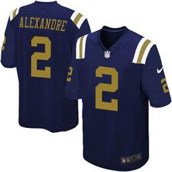 Game Men's Justin Alexandre New York Jets Nike Alternate Jersey - Navy Blue