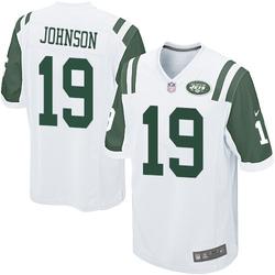 Game Men's Keyshawn Johnson New York Jets Nike Jersey - White