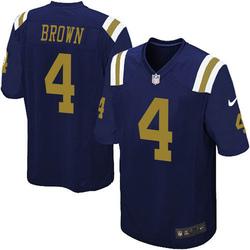 Game Men's Kyron Brown New York Jets Nike Alternate Jersey - Navy Blue