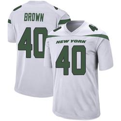 Game Men's Kyron Brown New York Jets Nike Jersey - Spotlight White