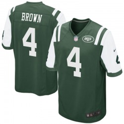 Game Men's Kyron Brown New York Jets Nike Team Color Jersey - Green