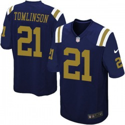 Game Men's LaDainian Tomlinson New York Jets Nike Alternate Jersey - Navy Blue