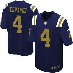 Game Men's Lachlan Edwards New York Jets Nike Alternate Jersey - Navy Blue