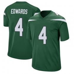 Game Men's Lachlan Edwards New York Jets Nike Jersey - Gotham Green