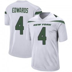 Game Men's Lachlan Edwards New York Jets Nike Jersey - Spotlight White