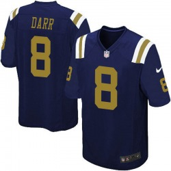 Game Men's Matt Darr New York Jets Nike Alternate Jersey - Navy Blue