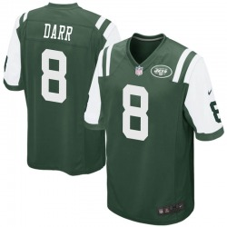Game Men's Matt Darr New York Jets Nike Team Color Jersey - Green