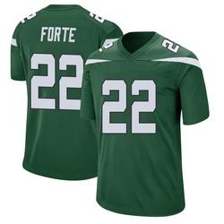 Game Men's Matt Forte New York Jets Nike Jersey - Gotham Green
