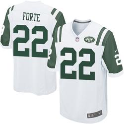 Game Men's Matt Forte New York Jets Nike Jersey - White